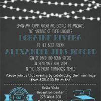 Loraine Rivera Front Wedding Invitations