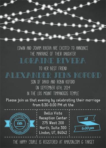 Loraine Rivera Front Wedding Invitations