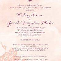Kelly Moya Front Wedding Invitations