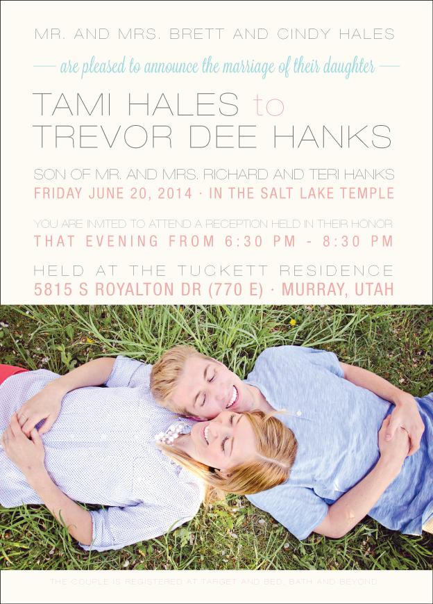 tamihales_front Wedding Invitations