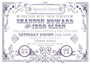 shannonhoward_front Wedding Invitations