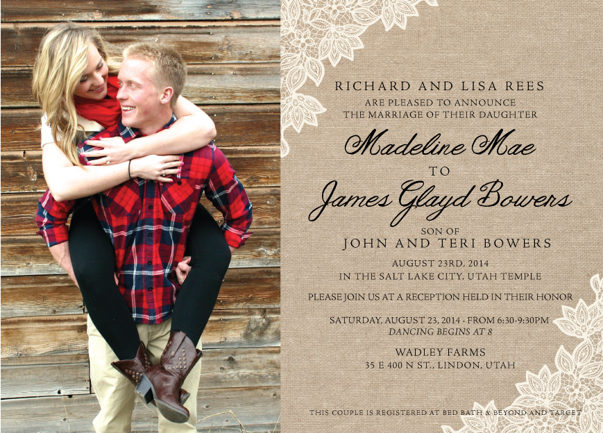 madelinerees_front Wedding Invitations