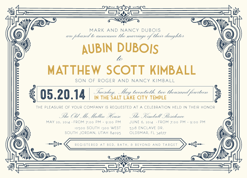 aubin_front Wedding Invitations