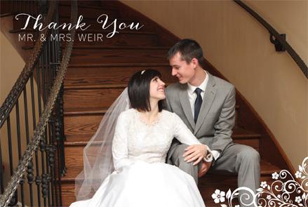 Emily McBride TY Front wedding invitations