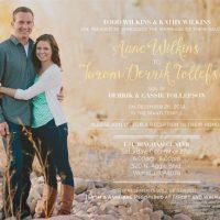 Anne Wilkins Front Wedding Invitations