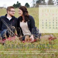 Sarah VanderHoeven Back Wedding invitations