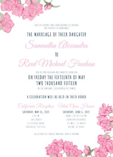 Samantha De Ferrari Front Wedding Invitations