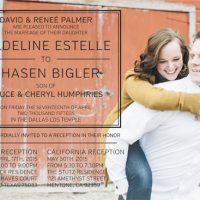 Renee Palmer Front Wedding Invitations