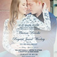 Marissa Anderson Back Wedding Invitations