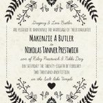 Makenzie Butler Back Wedding Invitations