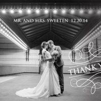 Maddison Sweeten THC Front Wedding Invitations