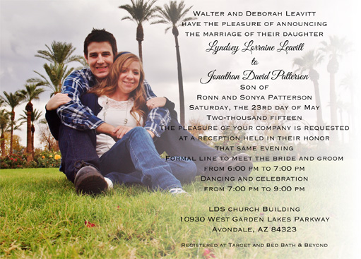 Lyndsey Leavitt Front Wedding Invitations