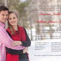 Lauren Durnford Front Wedding Invitations