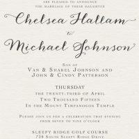 Chelsea Hallam Front Wedding Invitations