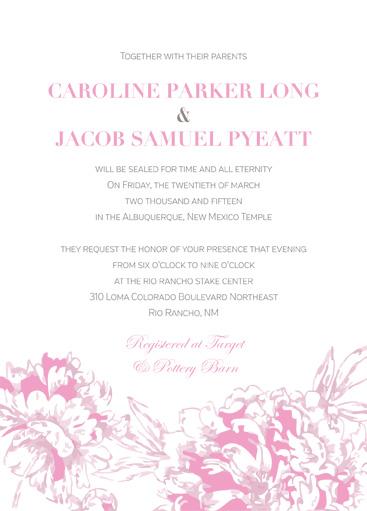 Caroline Long Front Wedding invitations