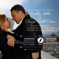 Brittany Altieri Front Wedding Invitations