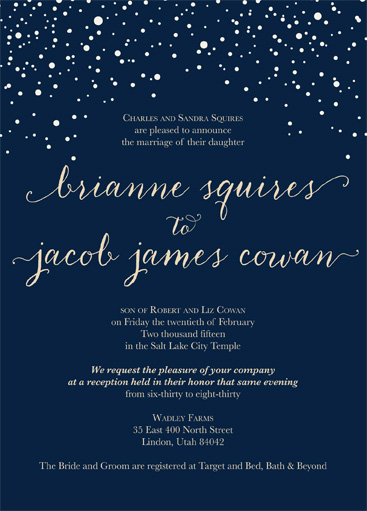 Brianne Squires Front Wedding Invitations