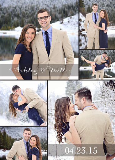 Ashley Tyler Stokes Front Wedding invitations