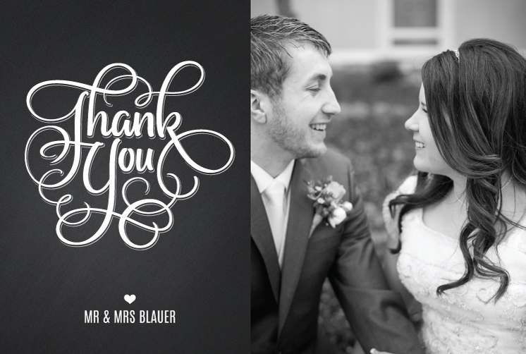 Brooke_TY_front Wedding Invitation