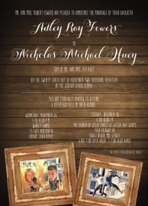 Adley & Nicholas Back Wedding Invitations