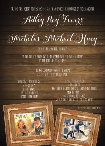 Adley & Nicholas Back Wedding Invitations