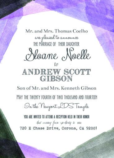 Sloane & Andrew Front Wedding Invitations
