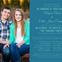 Megan and Cutler Front Wedding Invitations