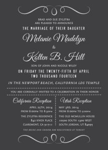 melanie_front Wedding Invitations