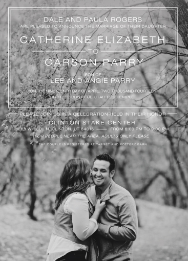 catherine_front Wedding Invitations
