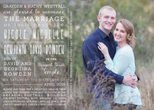 nicole-and-benjamin-front Wedding Invitations
