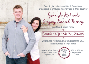 tysha-and-greg-5x7-front wedding invitation