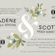 jadene-front Wedding Announcements