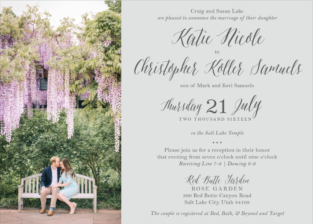 katie-lake-front Wedding Invitations