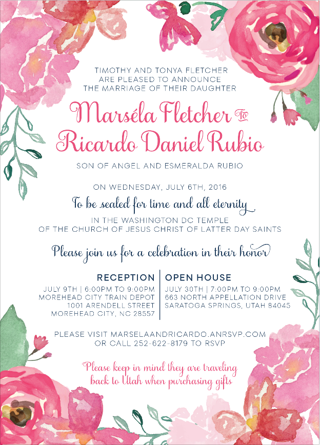 marsela-fletcher Wedding Invites
