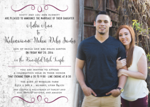 aubri_front_web Wedding Invitations