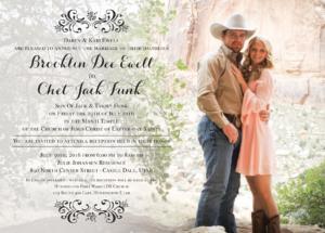 Brooklin Ewell Front Wedding Invitations