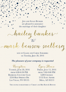 Utah Wedding Invitations