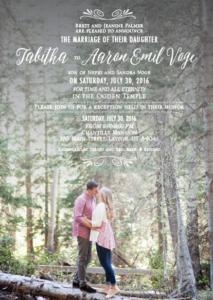tabith-and-aaron wedding invitation