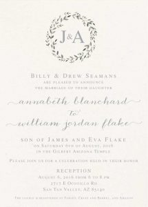 annabeth wedding invites