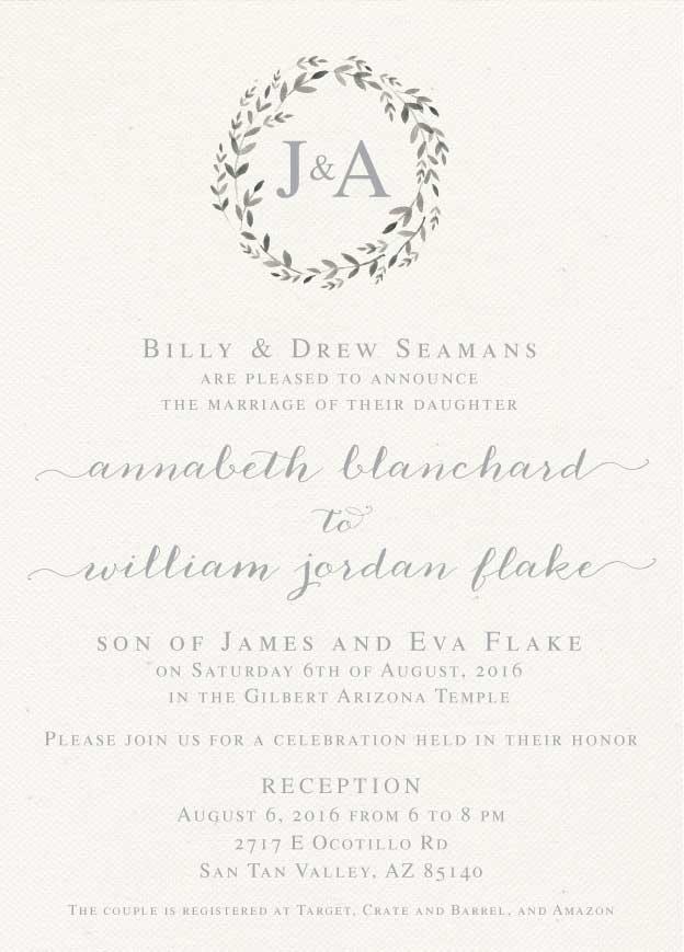 annabeth wedding invites