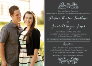 amber Wedding Invitation