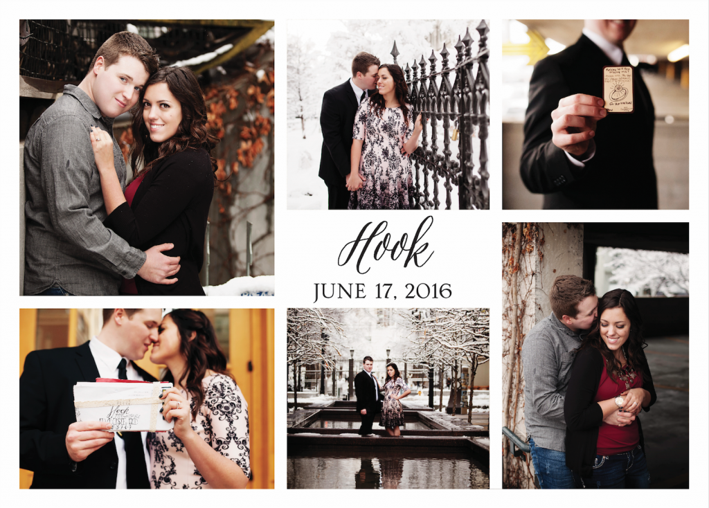 Jessica Hook Back Wedding Invitations