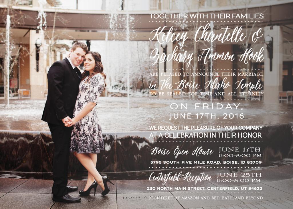 Jessica Hook Front Wedding Invitations