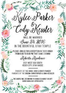 Kylee and Cody Wedding Invites