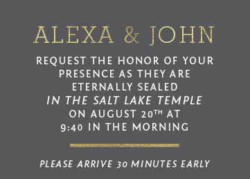 Alexa Wedding Invitations