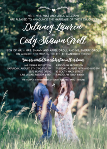 Delaney Front Wedding Invitations
