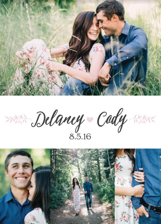 Delaney-Back Wedding Invitations