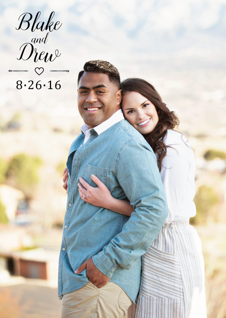 Drew-Davis Wedding Invitations
