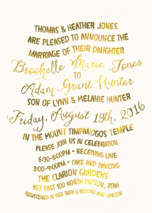 Heather Jones Utah Wedding Invitations