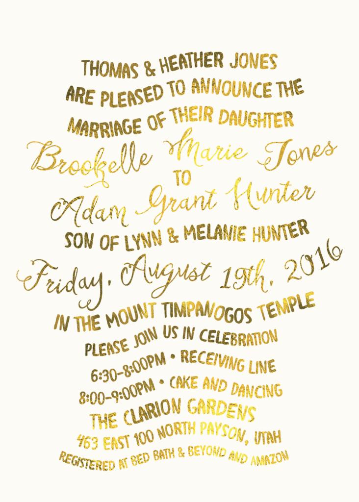 Heather Jones Utah Wedding Invitations